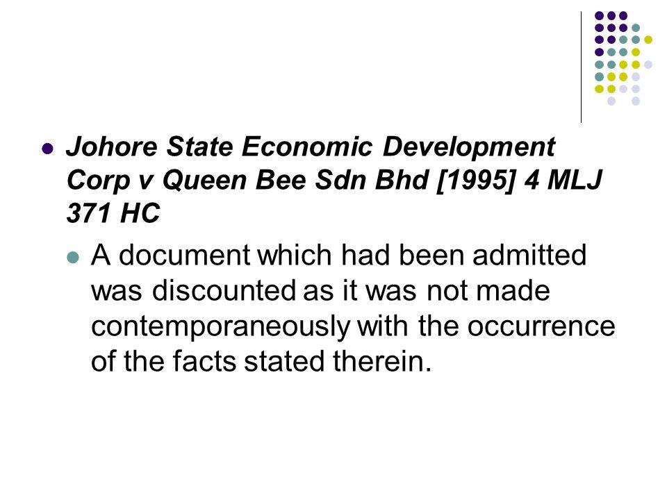 Johore State Economic Development Corp v Queen Bee Sdn Bhd [1995] 4 MLJ 371 HC